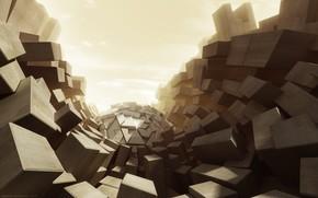 стиль, кубы, абстракции, фантазия
