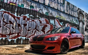 BMW M563, car, graffiti, fashion, cars, machinery, Car
