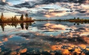 Смотрю,  в озера,  синие