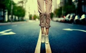 route, pieds, gumshoes