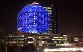Minsk, library, night, city