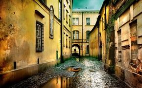 Улочка,  после,  дождя
