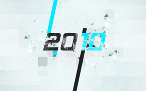 новый год, частицы, черный, голубой, серый
