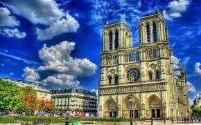 obszar, katedra, niebo