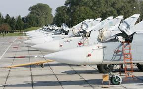 самолеты, бомбардировщик, СУ-24М, подготовка к полетам