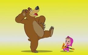 cartone animato, Masha e l'Orso, ragazza, sopportare