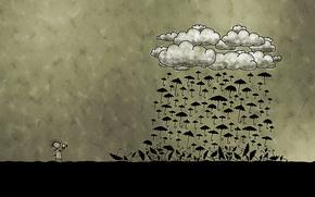 las nubes, Paraguas, fotgrafo