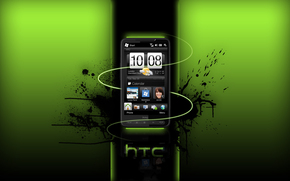 htc, windows, mobile, adnroid, smartphone, green