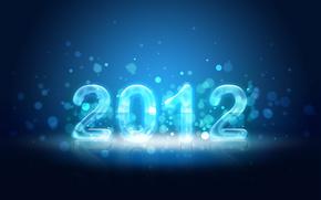 2010,  новый год,  блики,  число,  год