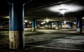 vuoto, sotterraneo, garage