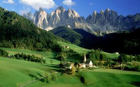 Italia, Alpi, villaggio
