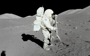 astronauta, luna, terra