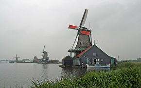 Wind, mill, Netherlands,