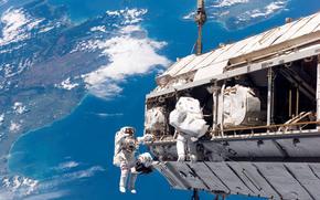 космос,  звёзды,  космонавты,  земля