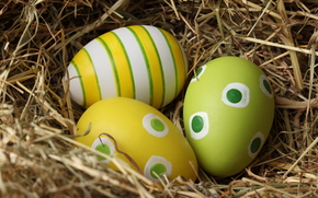 Easter, nest, eggs, pattern