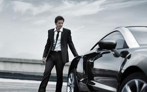 парень,  мужчина,  машина