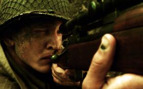 Salvate il soldato Ryan, soldato, fucile, arma, mira, cecchino