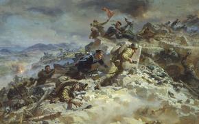 война,  бой,  великая отечественная война,  руины,  дым