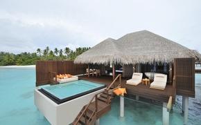 palma, spiaggia, Maldive