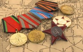 Dia da Vitria, estrela, mapa, Medalha, Prmios