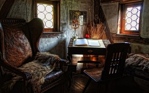 home, room, chair, skin, skin, Table, book, chair, window