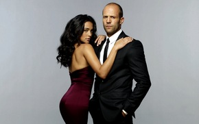Jason Statham, Natalie Martinez, muzhik, girl, actors, Death Race