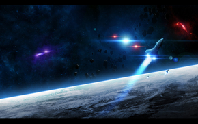 planeta, ziemia, atmosfera, uruchomi, rakieta, Asteroids, Gwiazda, wiato