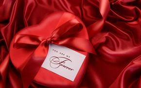 день святого валентина,  ткань,  признание,  подарок,  бант