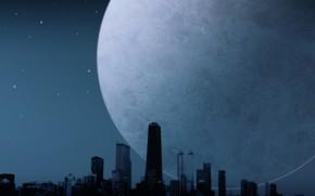 moon, night, loneliness