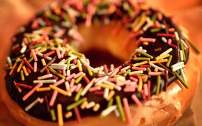 макро,  пончик,  еда,  шоколад,  крошка,  пища,  сладость,  десерт