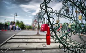 Moscow, bridge, locks, love