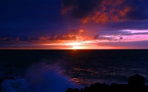 море,  рассввет,  природа,  пейзаж