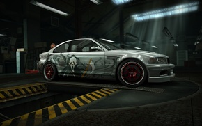bmw, m3, e46, scary, movie, nfs, world, garage