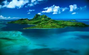 mare, isola, Bora Bora, Polinesia Francese