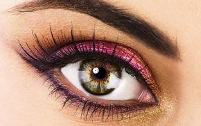 глаз,  ресницы,  макияж,  тени,  тушь,  зрачок,  взгляд,  макро