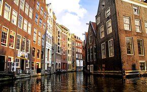 амстердам,  венецианский канал,  дома,  постройки,  город