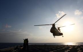 helicptero, Aviacin, enviar, rea, portaaviones, militar, Infantera de marina, Arim, EE.UU., Amrica, sol, mar