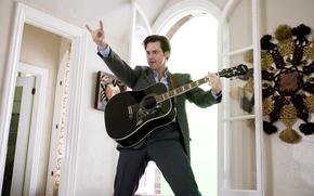 Jim Carrey, always say yes, guitar