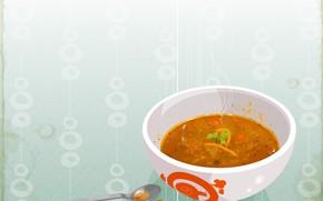dish, spoon, soup