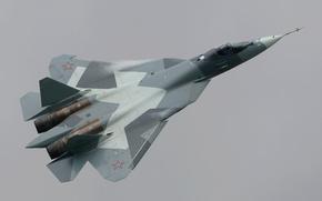 сухой,  пак фа,  российский,  многоцелевой,  истребитель,  пятого,  поколения,  полет,  высота,  облака,  небо