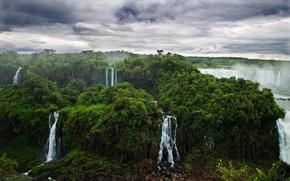 Naturaleza, selva, bosque, Ro, saltos de agua, Iguaz