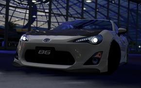 Toyota, semaforo, bianco, auto, macchinario, Auto