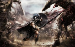 воин, сражение, битва