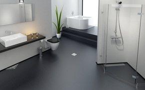 bathroom, shower, crane, WC, tsyetok, plant