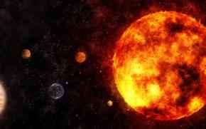 галактика,  планеты,  система,  звезды,  пространство