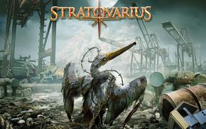 stratovarius, лебедь. помойка, кран, луна