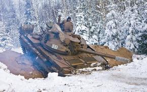 tank, snow, winter, USSR