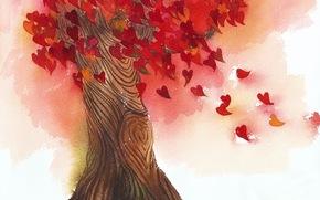 amor, rbol, corazn, deja