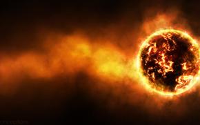 cataclisma, rovente pianeta, temperatura, radiazione, radiazione