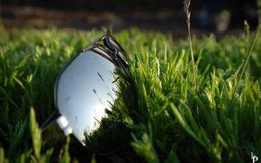 зеркало, природа, очки